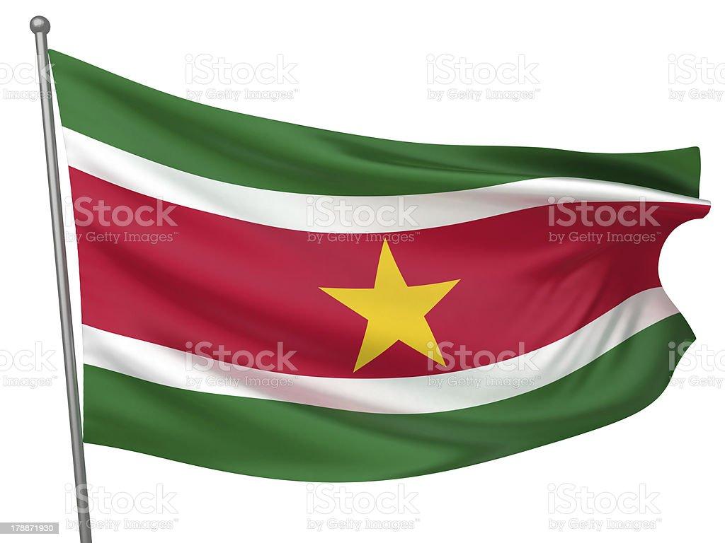 Suriname National Flag stock photo