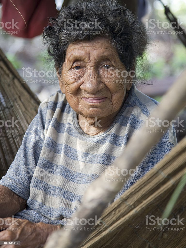 Suriname, old woman. royalty-free stock photo