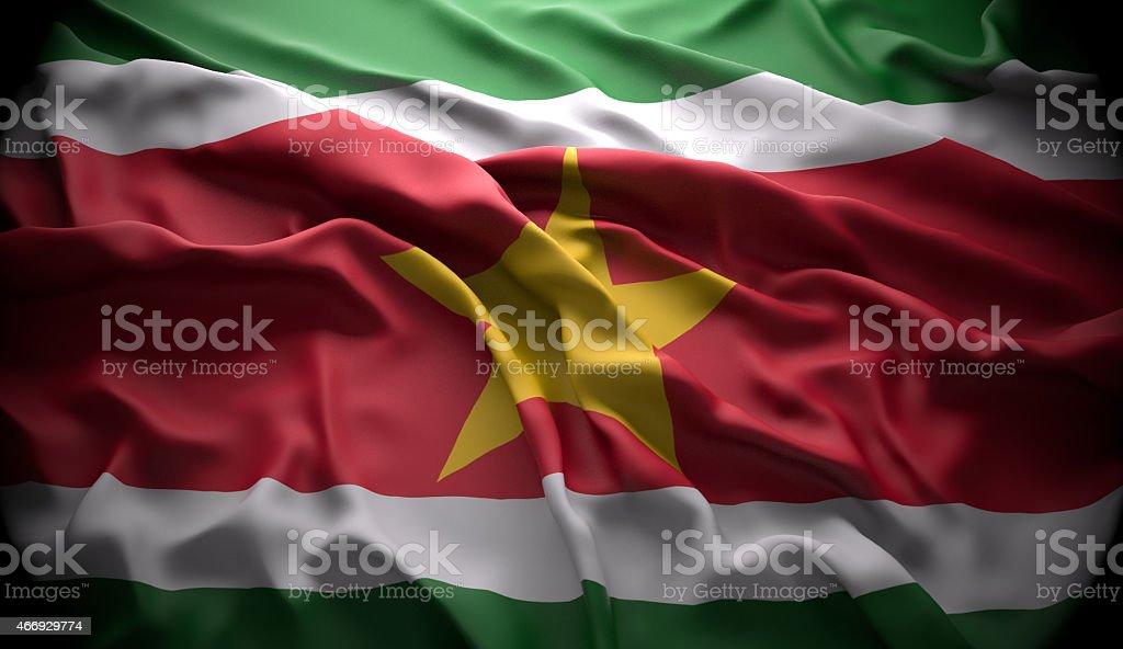 Suriname, Paramaribo national official state flag stock photo