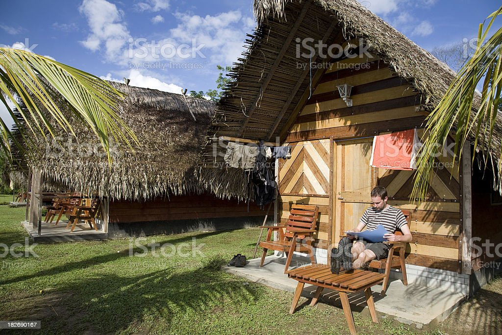 Suriname, relaxing. stock photo