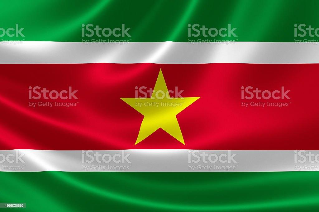 Suriname's National Flag stock photo