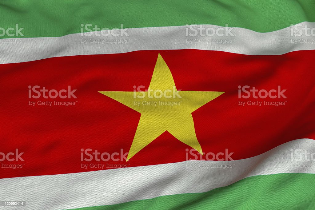 Surinamese Flag stock photo