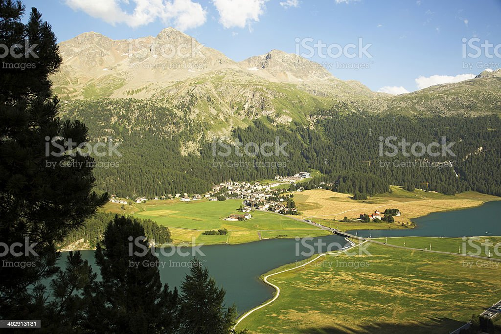 Surlaj-Engadine-Switzerland stock photo
