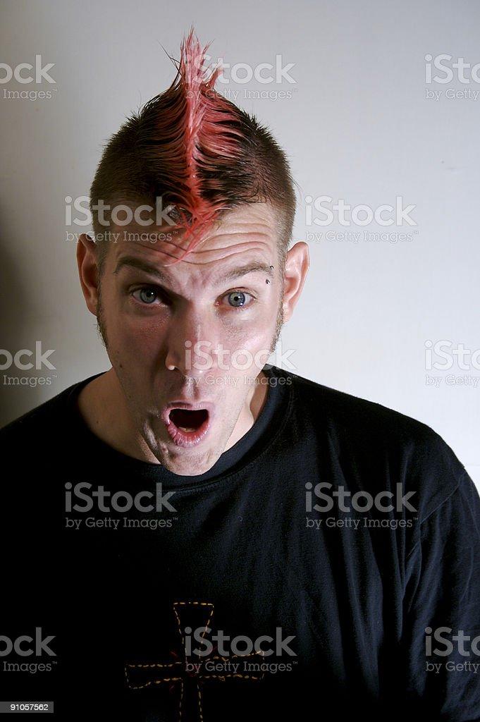 Surpised man stock photo