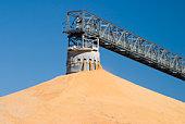 surplus corn pile