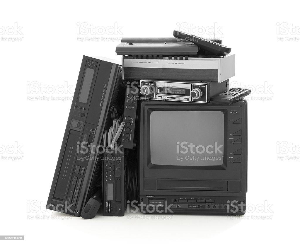 Surplus Household Electronics royalty-free stock photo