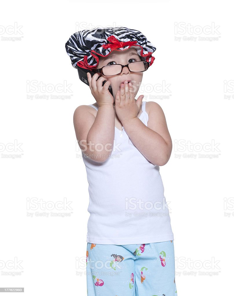 Surprise at Bedtime royalty-free stock photo