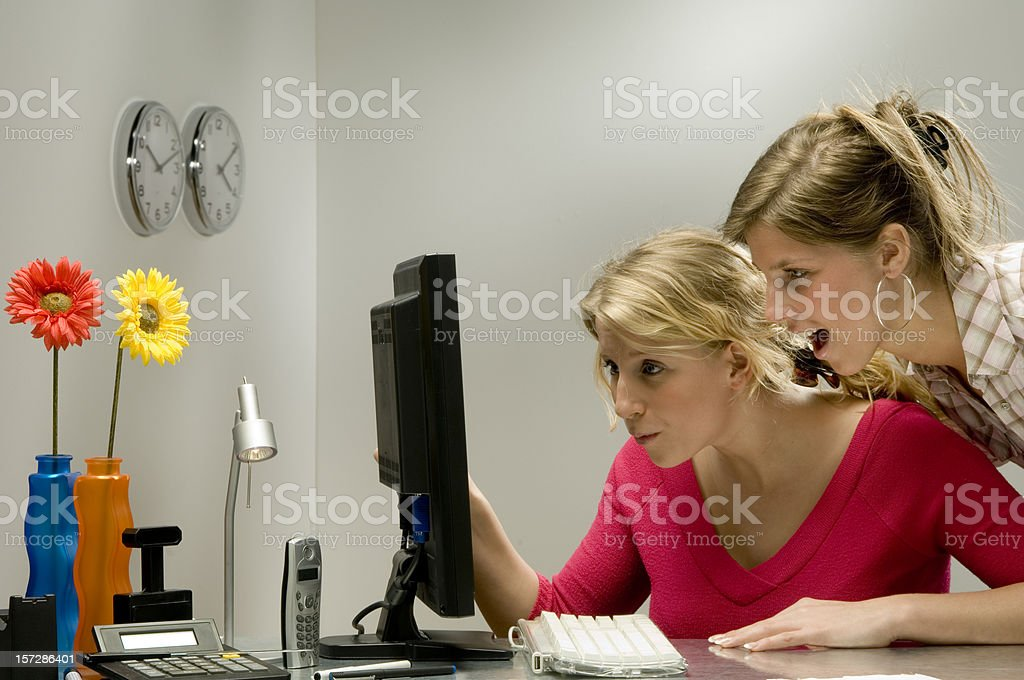 surprise at work royalty-free stock photo