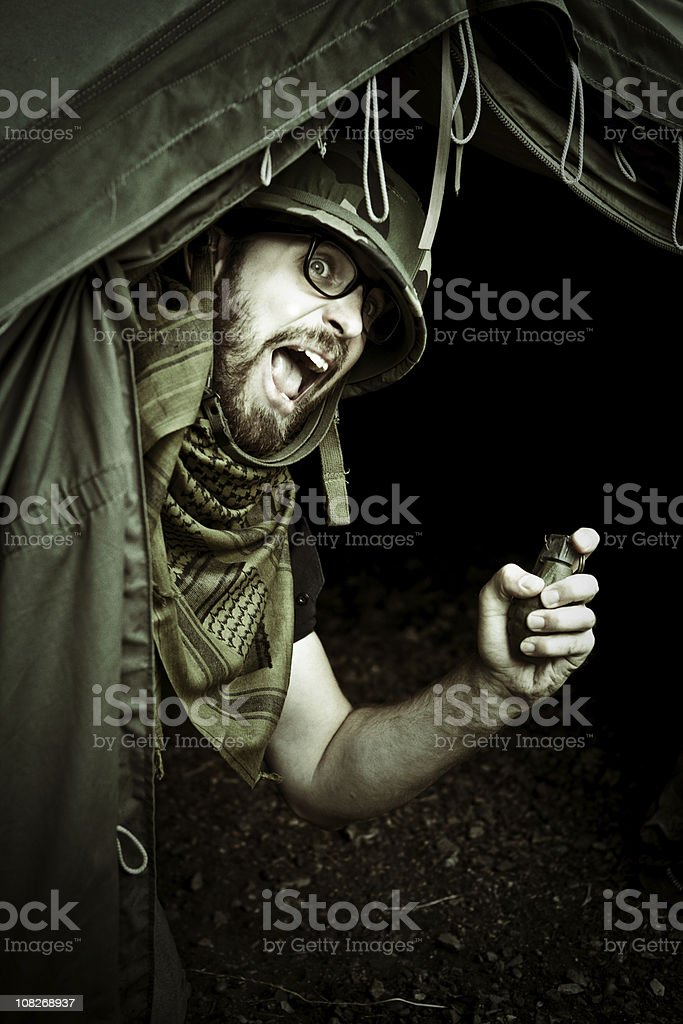 surprise attack royalty-free stock photo