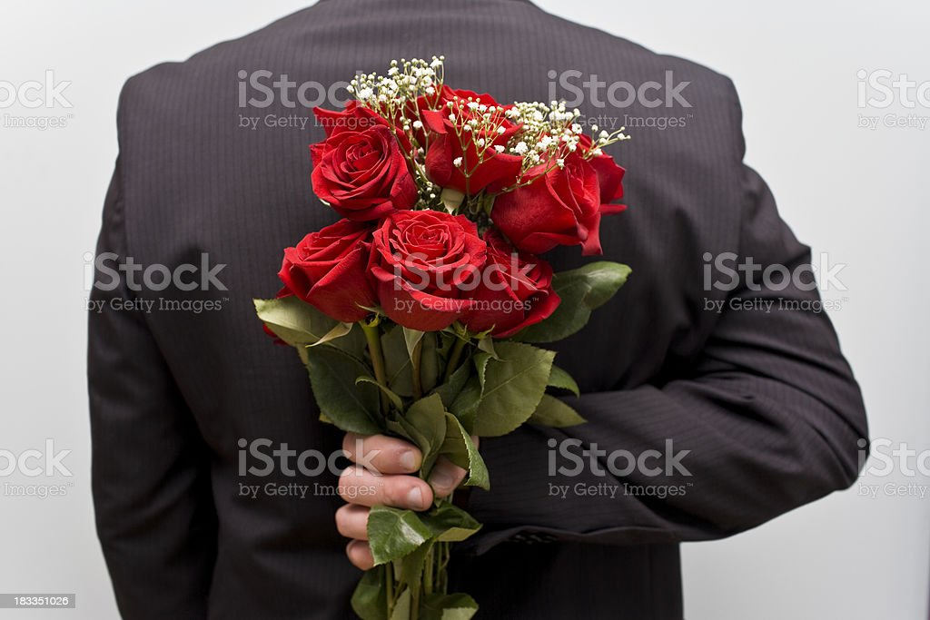 Surprise bouquet of Flowers royalty-free stock photo