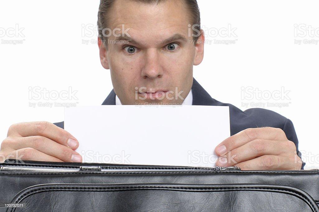Surprise business correspondence royalty-free stock photo