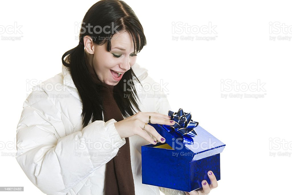 Surprise Christmas Gift royalty-free stock photo