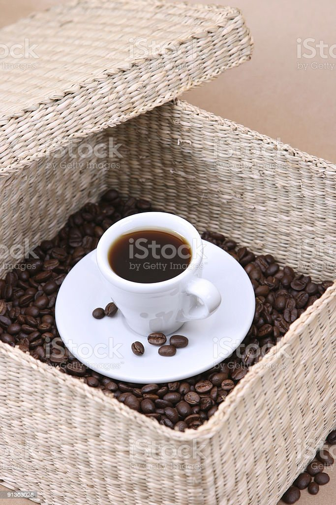 Surprise Coffee out of Box royalty-free stock photo