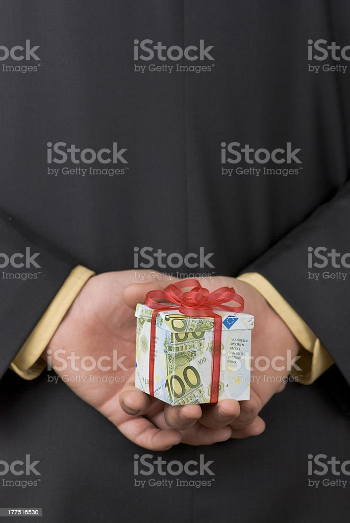 Surprise expensive gift royalty-free stock photo