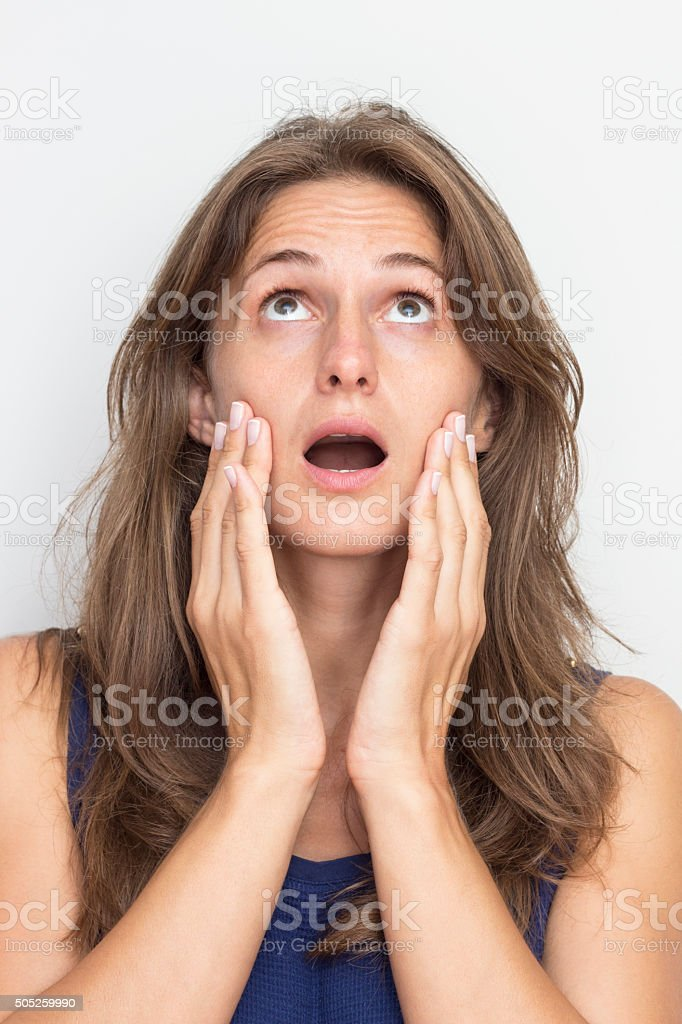 Surprise Expression stock photo