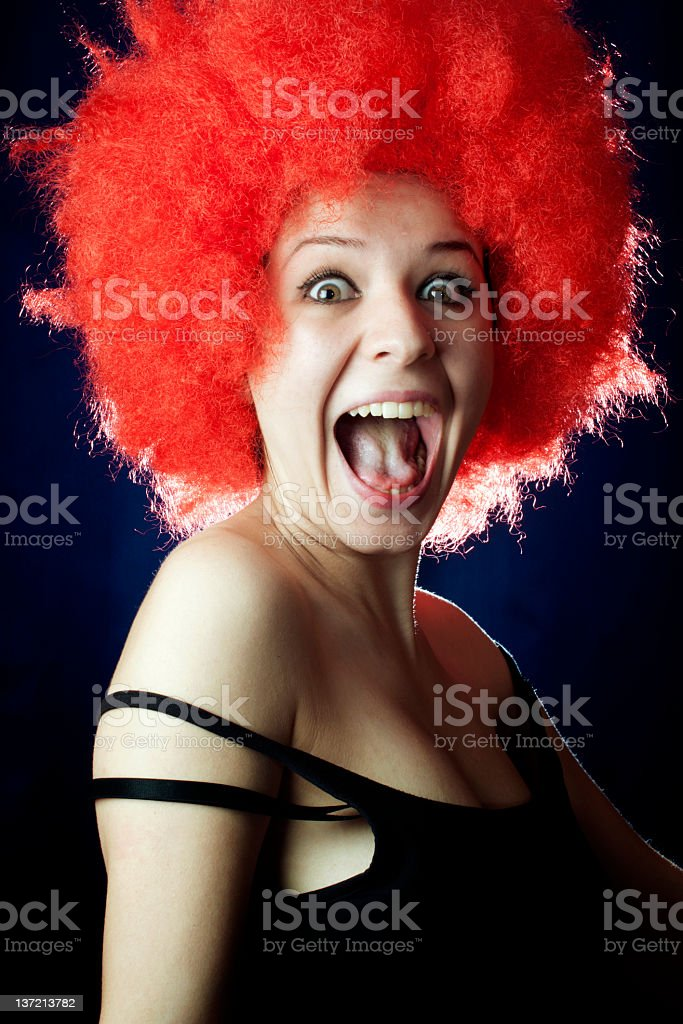 Surprise face royalty-free stock photo