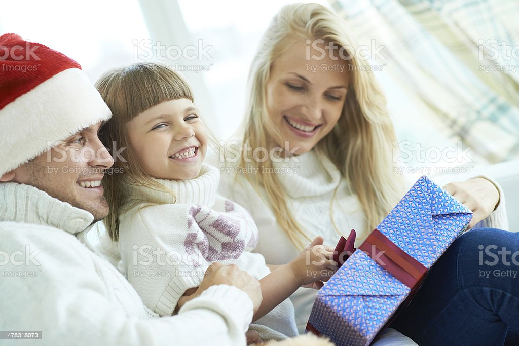 Surprise for beloved daughter royalty-free stock photo