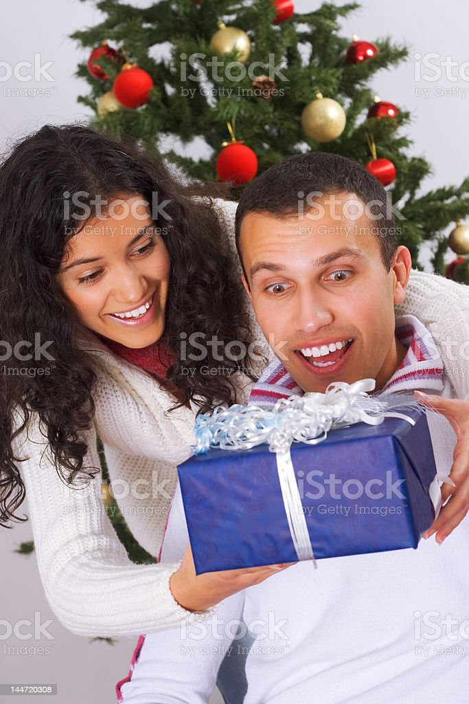 Surprise for Christmas royalty-free stock photo