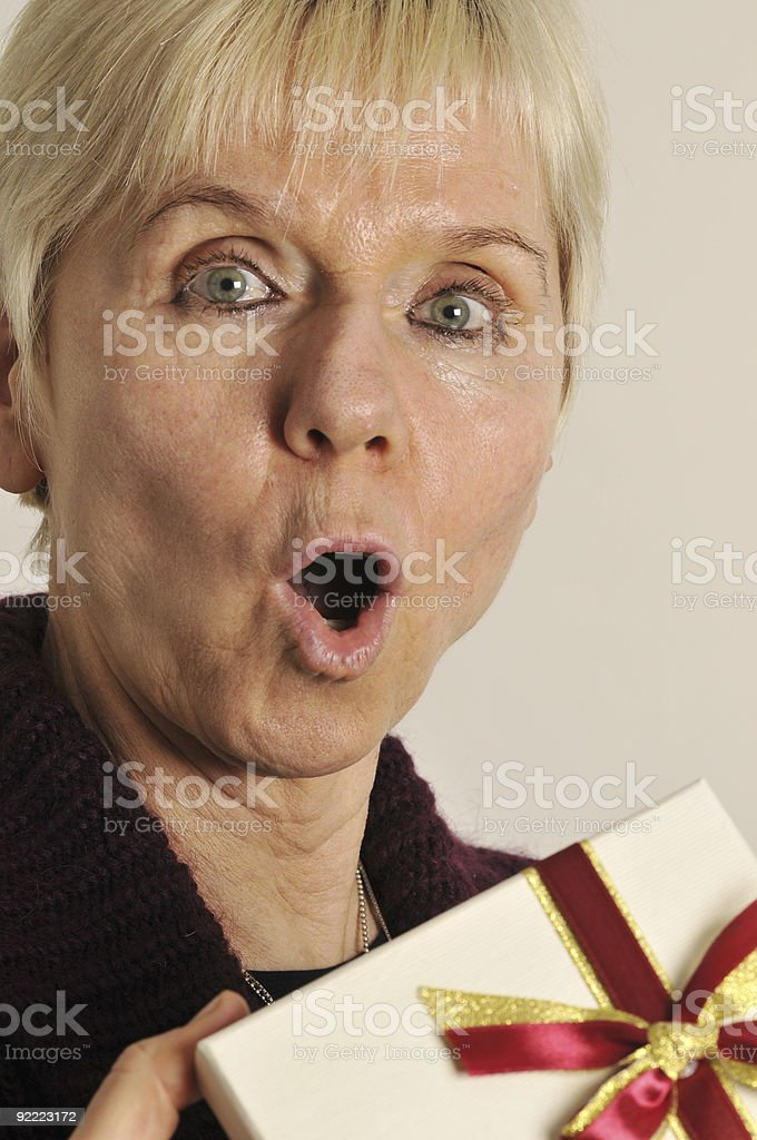 surprise for woman royalty-free stock photo