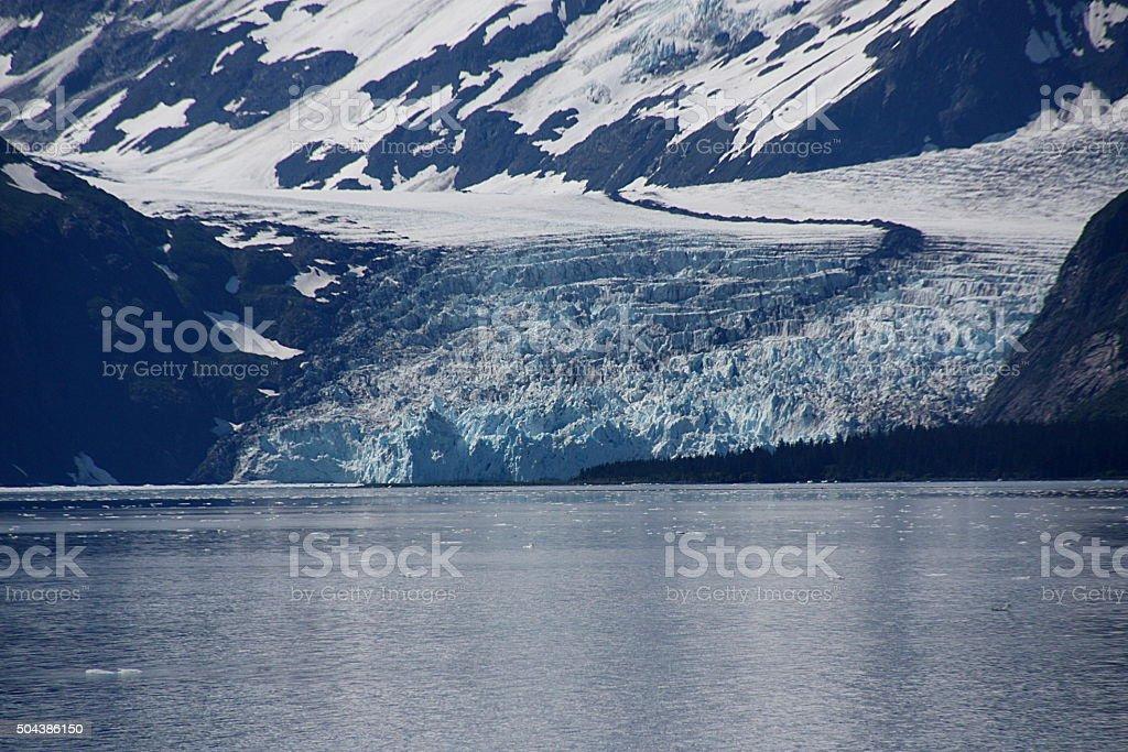 Surprise Glacier - Alaska stock photo