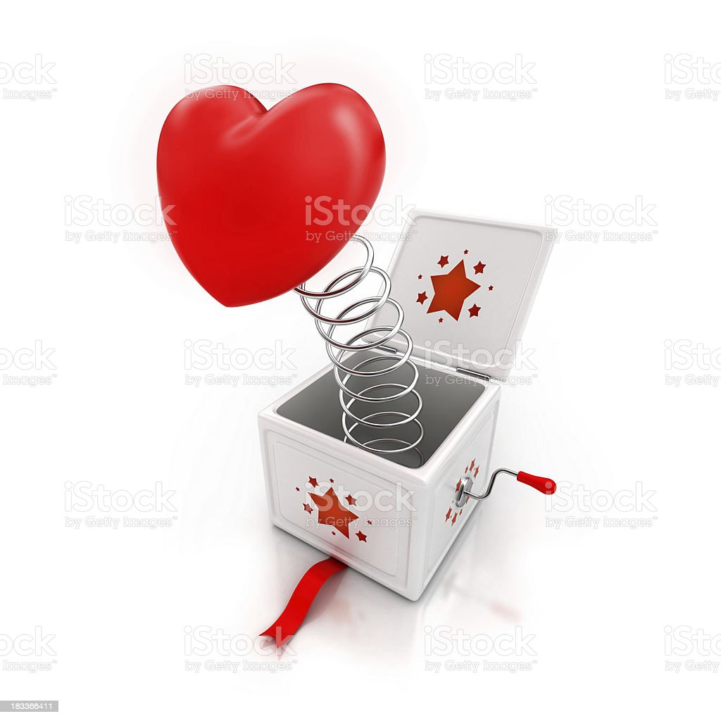 surprise heart gift stock photo