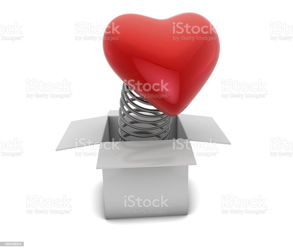 Surprise heart gift royalty-free stock photo