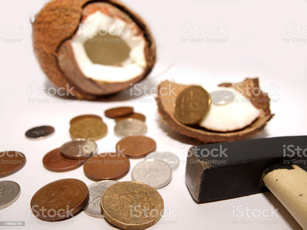 Surprise in a coco royalty-free stock photo