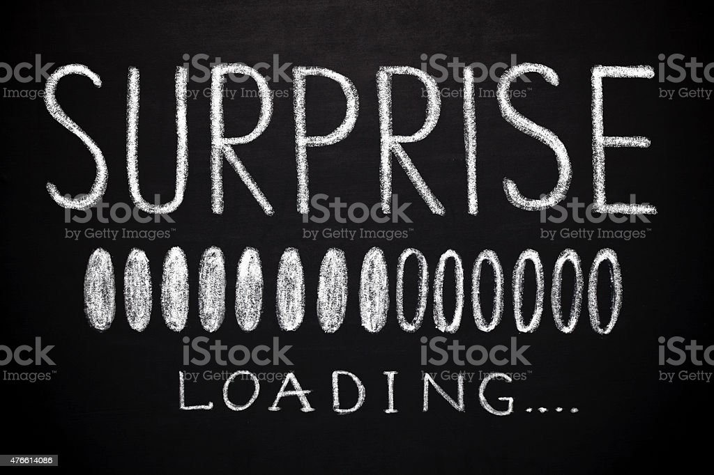 surprise loading stock photo
