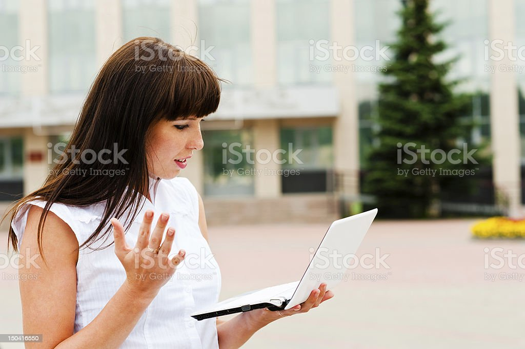 surprise on the job royalty-free stock photo