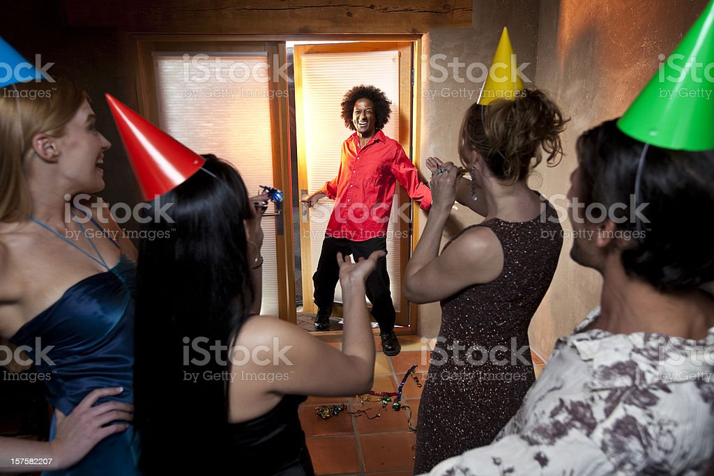 Surprise party stock photo