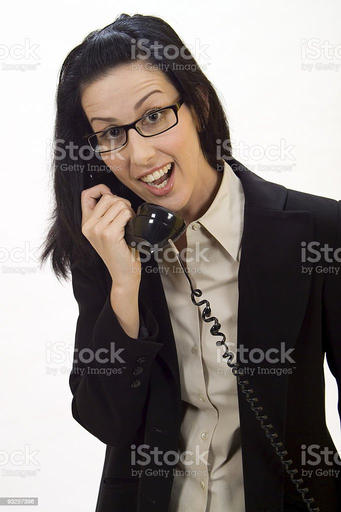 Surprise Phone Call royalty-free stock photo