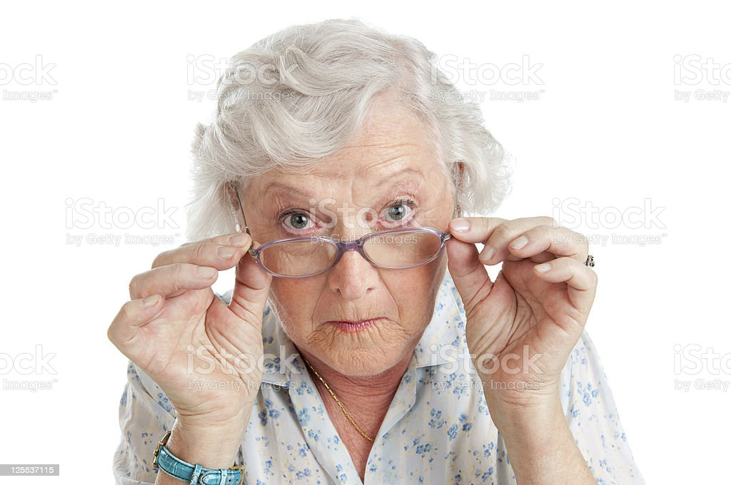 Surprised and amazed stock photo