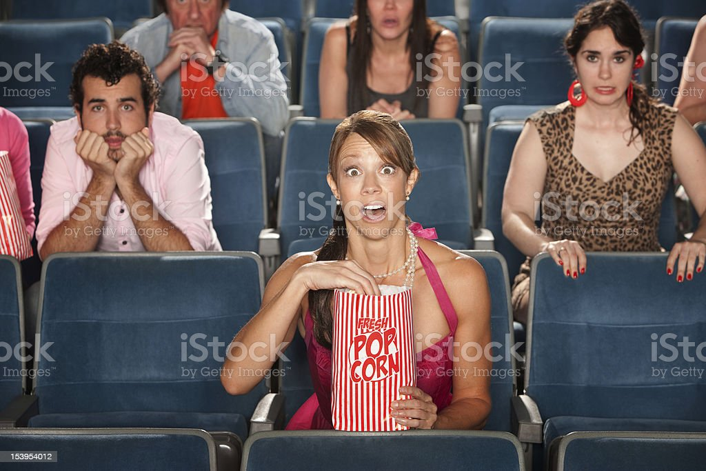 Surprised Audience in Theater royalty-free stock photo
