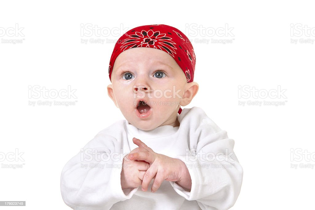 Surprised Baby Boy royalty-free stock photo