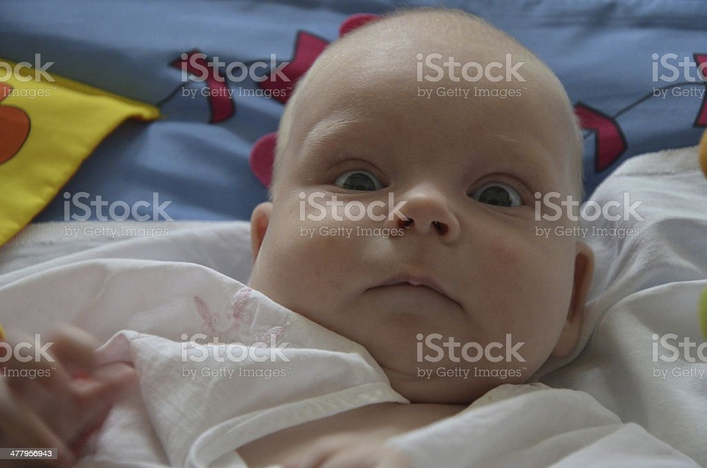 Surprised baby royalty-free stock photo