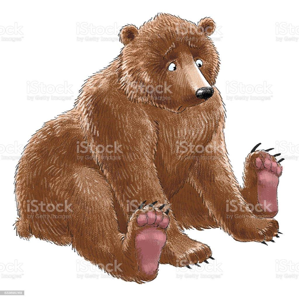 Surprised bear stock photo