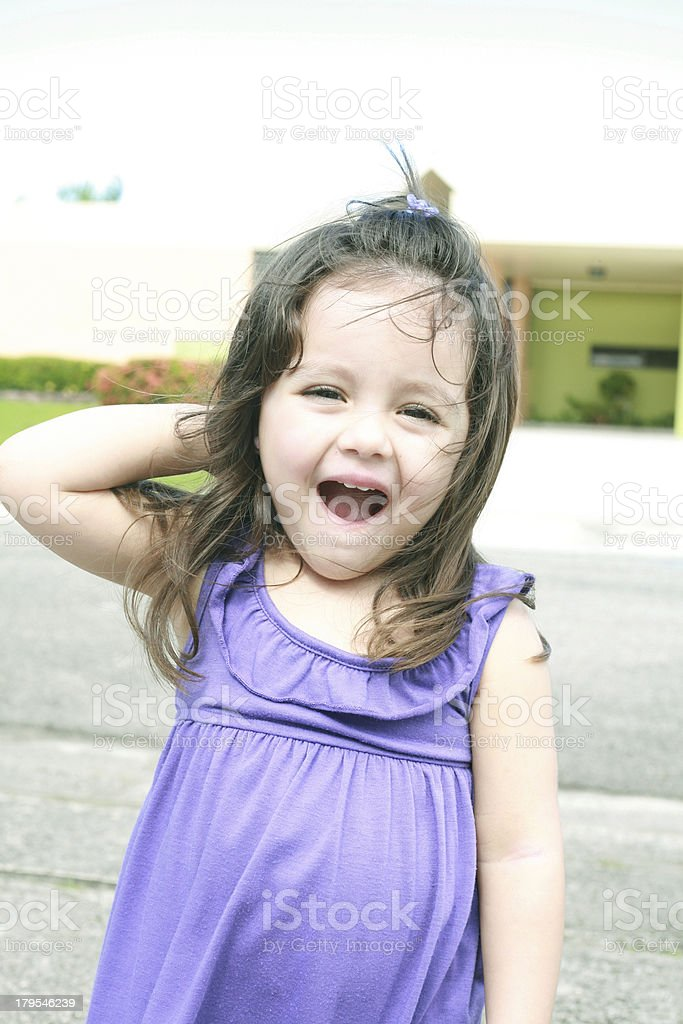 surprised beautiful little girl royalty-free stock photo