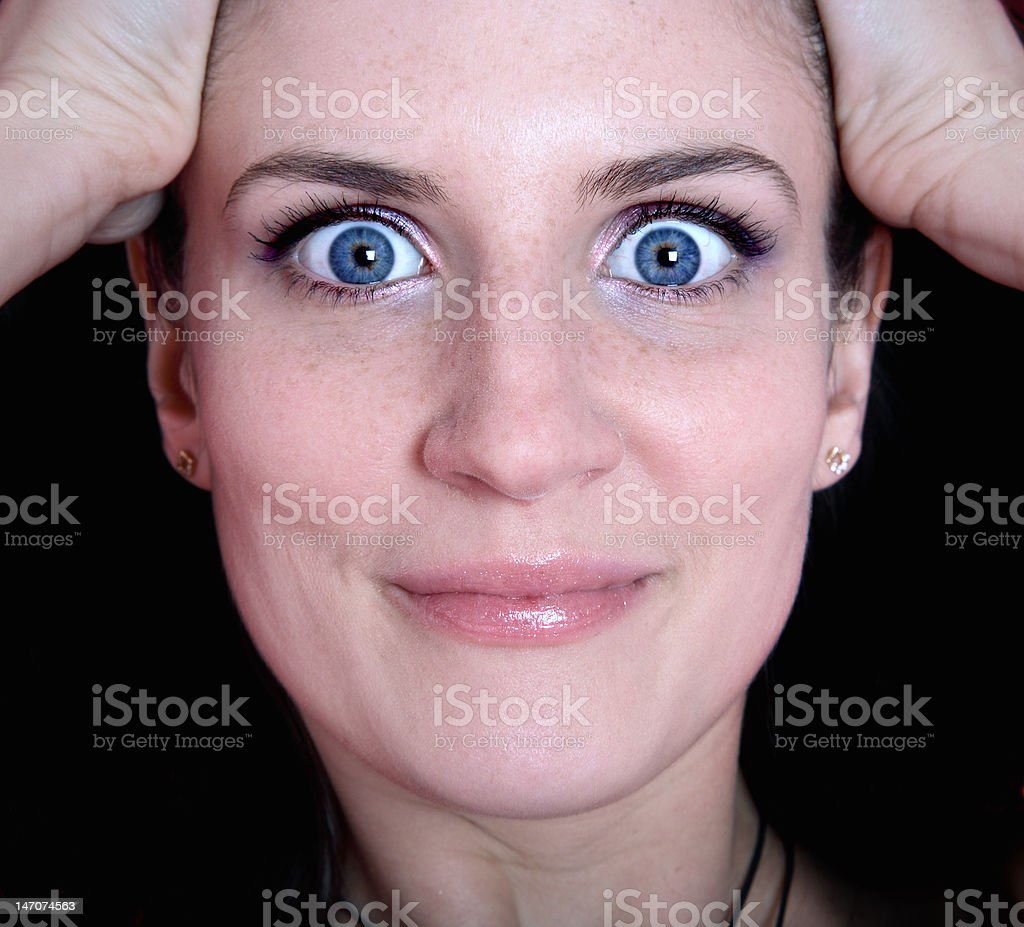 surprised beauty stock photo
