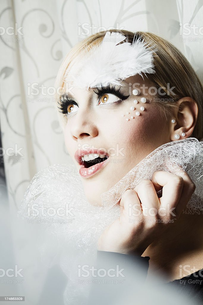 Surprised bride royalty-free stock photo