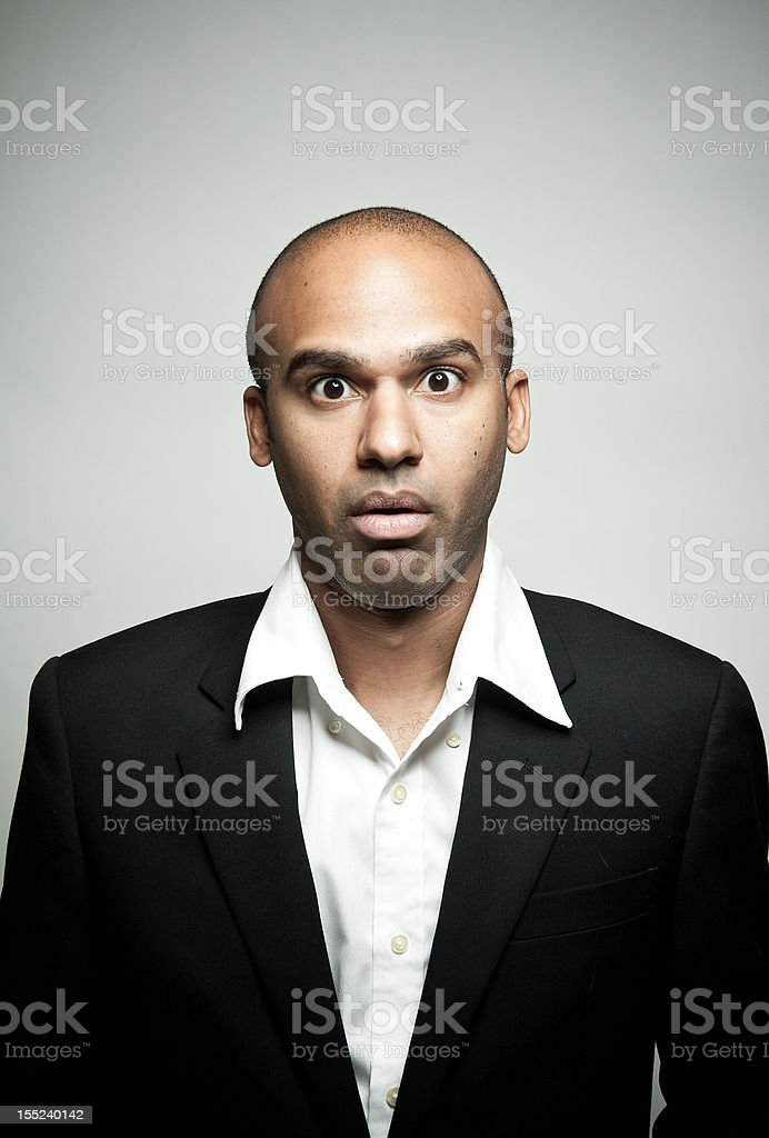 Surprised business man royalty-free stock photo