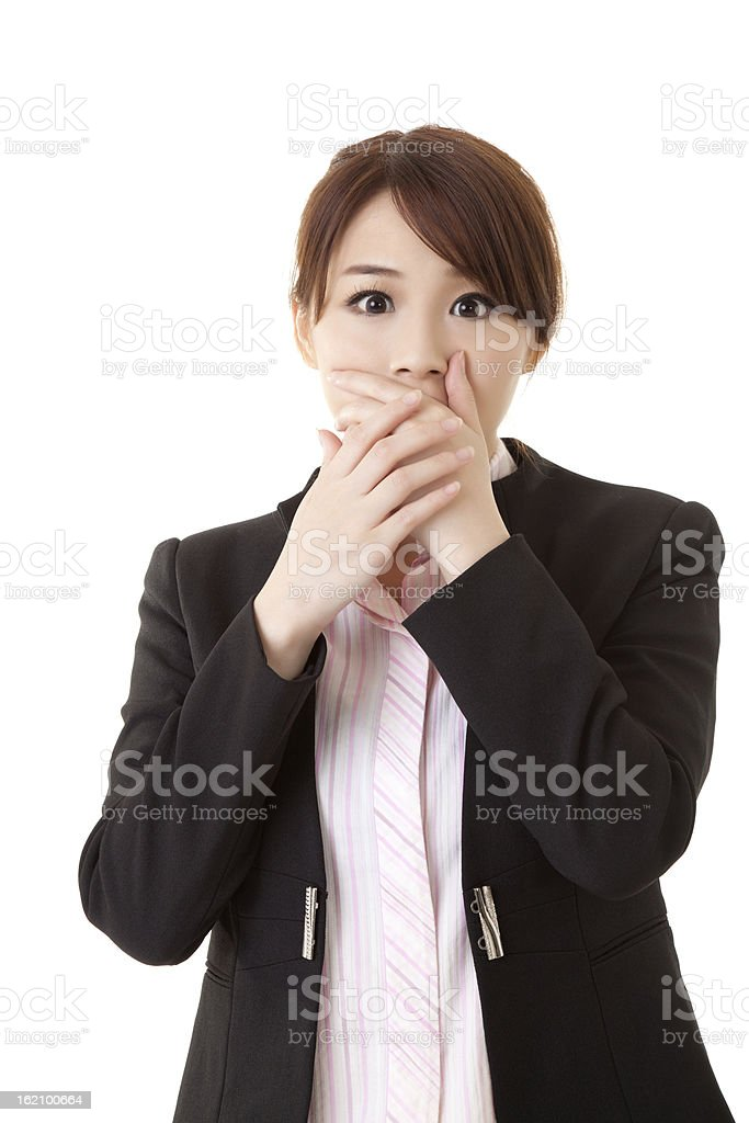 Surprised business woman royalty-free stock photo