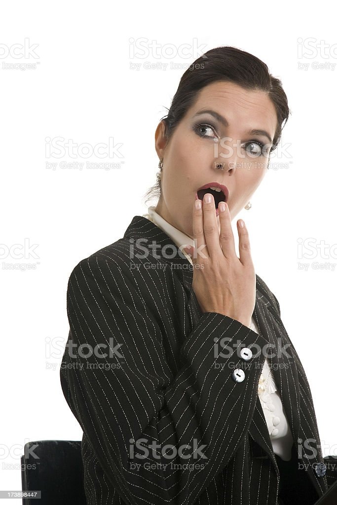 Surprised business woman stock photo