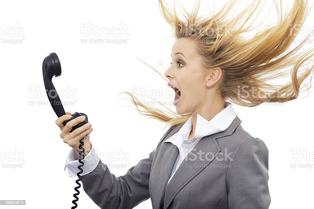 Surprised businesswoman royalty-free stock photo