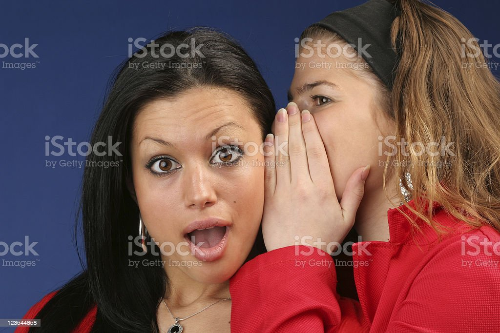 Surprised by the gossip information royalty-free stock photo
