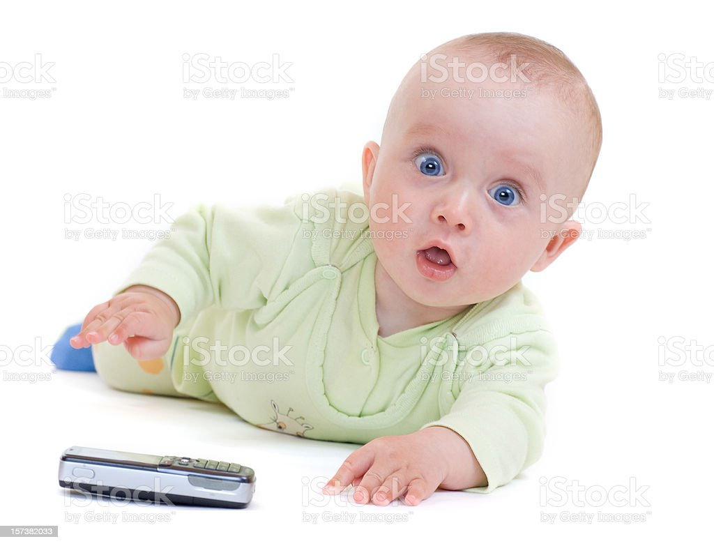 Surprised child royalty-free stock photo