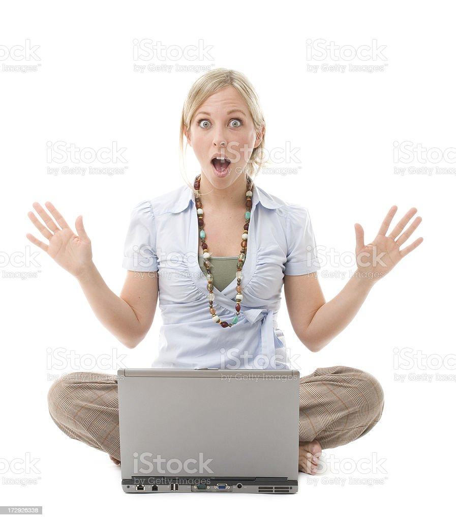 Surprised Computer User royalty-free stock photo