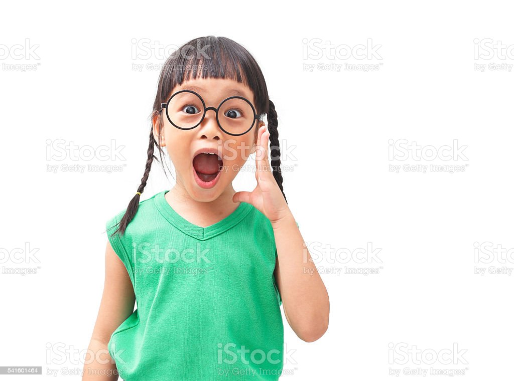 surprised face stock photo