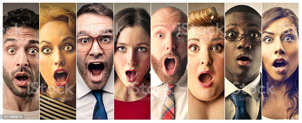 Surprised Faces stock photo
