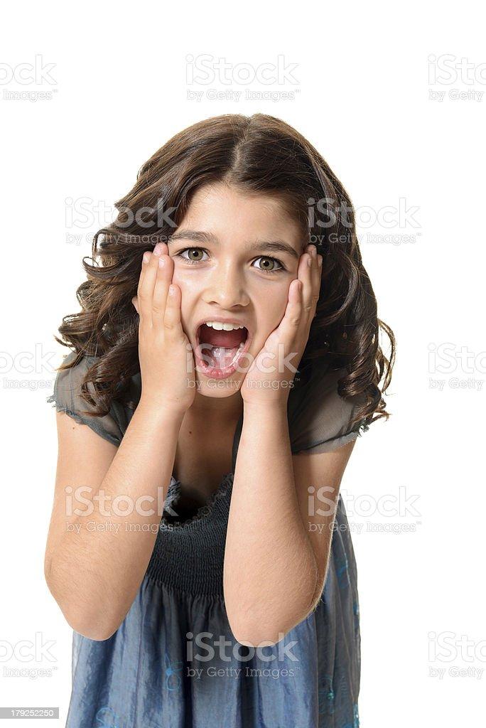 surprised female child royalty-free stock photo