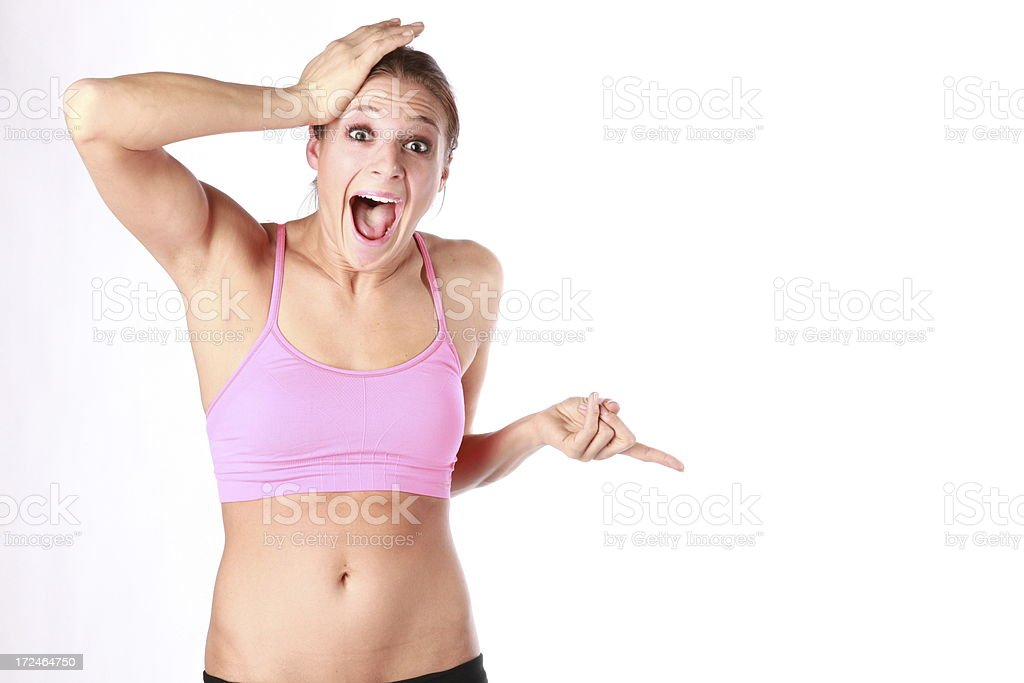 Surprised Fitness Woman royalty-free stock photo
